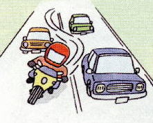 バイクのすり抜けで違反になるのはどんな時?事故を起こしたら?